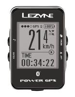 Компьютер LEZYNE POWER GPS, серебристый, Велокомпьютер с GPS датчиком 29 функций