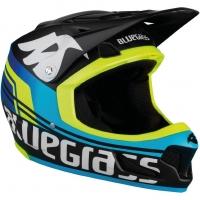 Шлем Bluegrass Brave black/cyan/fluo yellow