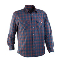 Рубашка RACE FACE No.5 MENS SHIRT-BLUE/ORG PLAID-MEDIUM