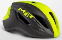 Шлем MET Strale Black Safety Yellow Panel/Matt