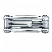 Мультитул Lezyne STAINLESS - 4, серебристый, Алюминиевые ручки, биты из нержавеющей стали