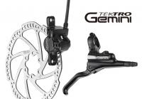 Дисковый тормоз TEKTRO Geminy-F-180 черный (тормоз, диск, 2 больших болта, 6 маленьких болтов)