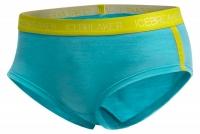 Трусы ICEBREAKER BF 150 Sprite Hot Pants WMN glacier/chartreuse