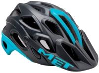 Шлем велосипедный MET LUPO M BLACK/LIGHT BLUE