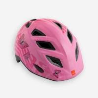Шлем MET Genio pink butterflies/glossy