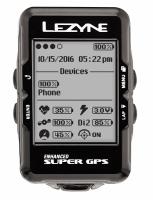 Компьютер Lezyne SUPER GPS HR LOADED черный