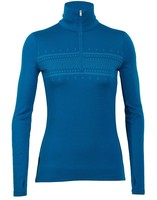 Кофта ICEBREAKER BF 260 Tech Top LS Half Zip WMN fairisle/alpine
