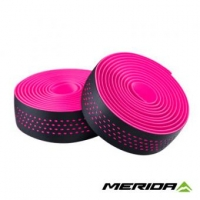Обмотка руля Merida Bartape Soft W Black w Pink dots 2100mm 30mm