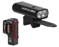 Комплект світла Lezyne Micro Pro / Strip Drive PAIR Чорний матовий/Чорний 800/150 люменів Y14