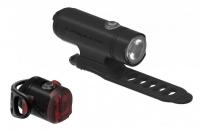 Комплект світла Lezyne CLASSIC DRIVE / Femto USB PAIR Чорний матовий/Чорний 500/5люменівів Y13