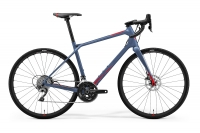 Велосипед MERIDA 2021 SILEX 4000 MATT STEEL BLUE(GLOSSY RED)