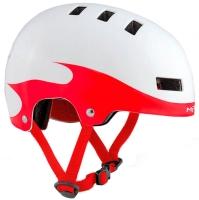 Шлем MET YOYO WHITE/RED FLAMES