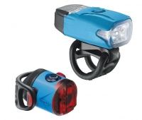 Комплект світла Lezyne LED KTV DRIVE / FEMTO USB PAIR Блакитний 220/5 люменів Y13
