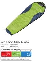 Спальный мешок Deuter Dream Lite 250 L цвет 5130 fire-midnight правый
