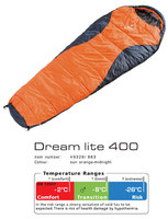 Спальный мешок Deuter Dream Lite 400 цвет 8830 sun orange-midnight правый