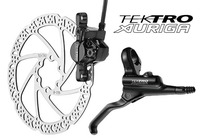 Дисковый тормоз TEKTRO Auriga-R-160 черный (тормоз, диск, 2 больших болта, 6 маленьких болтов)